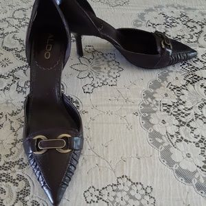 Aldo Brown Pointy Toe Heeled Shoes Size 6